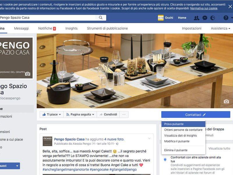 Pagina Facebook Pengo Spazio Casa a Bassano