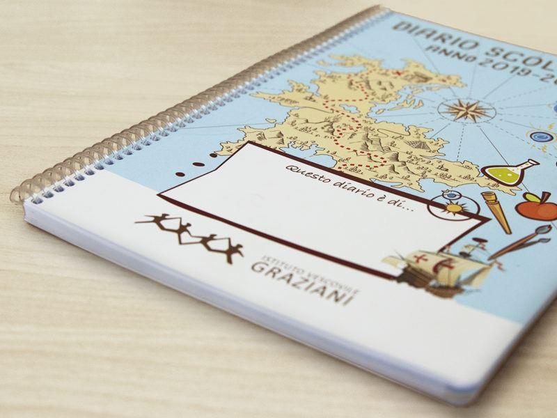 diario personalizzato per Istituto Graziani