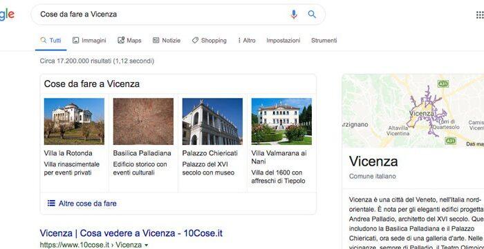 La posizione Zero della SERP SEO a Vicenza